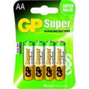 GP Super AA Alkaline Penlite Blister 4