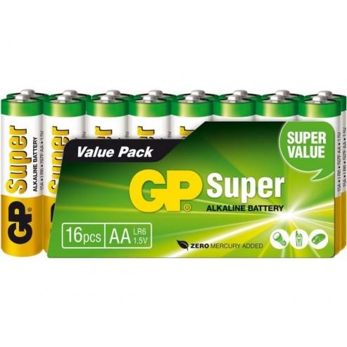 GP Super AA Alkaline Penlite 16 pack
