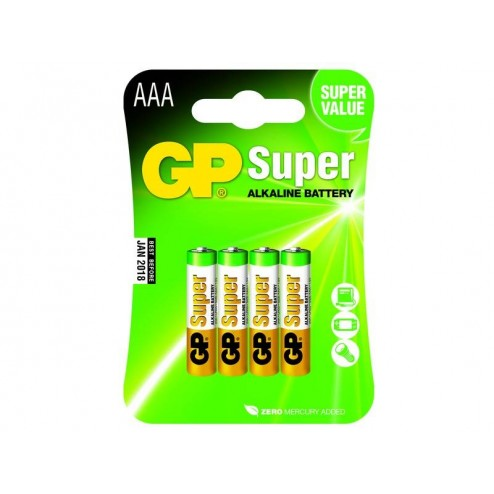 GP Super Alkaline AAA Micro Penlite Blister 4