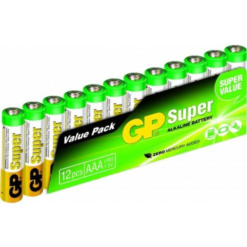 GP Super AAA Alkaline Micro Penlite 12 pack
