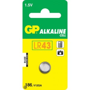 GP Alkaline knoopcel 186 (V12GA / L 1142), blister 1