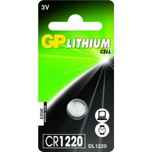 GP Lithium knoopcel CR1220, blister 1