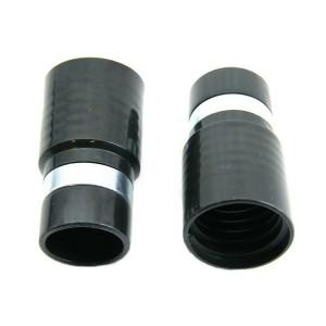 MOF rubber 32mm zwart + metalen ring voor slang dia 32mm inwendig
