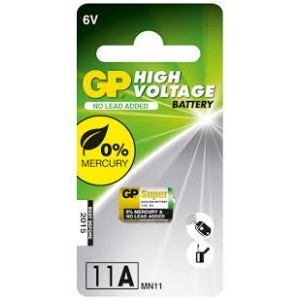 GP Hoog voltage alkaline rondcel 11A (MN11), blister 1