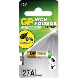 GP Hoog voltage alkaline rondcel 27A (MN27), blister 1