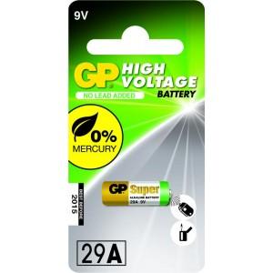 GP Hoog voltage alkaline rondcel 29A, blister 1