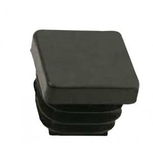 QlinQ pootdop insteek vierkant zwart 25 mm 4 stuks