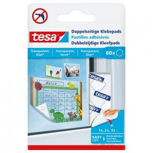 Tesa klevende pads 77731 transparant