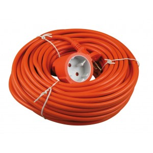 Tuinkabel 20 meter 2x1mm H05VV oranje