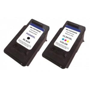 Set huismerk cartridges voor Canon PG540XL & Cl541XL met niveau-indicator
