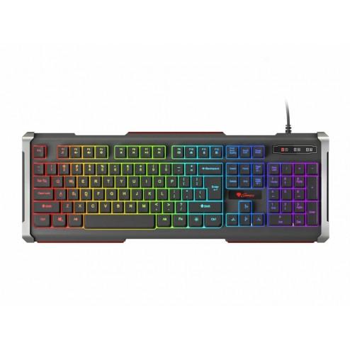 Genesis Rhod 400 - RGB Gaming toetsenbord US layout - Met RGB verlichting - Zwart