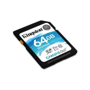SDXC Card 64GB Kingston U3 V30 Canvas GO