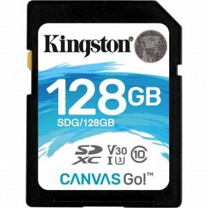 SDXC Card 128GB Kingston U3 V30 Canvas GO