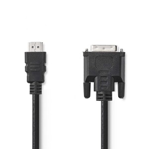 HDMI - DVI-D-kabel HDMI-connector - DVI-D 24 + 1-pins mannelijk 2,00 m zwart