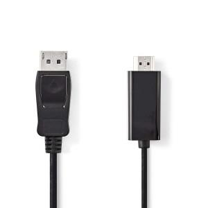 DisplayPort-kabel DisplayPort mannelijk - HDMI-connector 2,00 m zwart