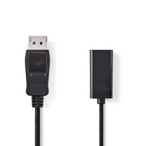 DisplayPort Kabel DisplayPort Male - HDMI Male 0.20 m Zwart