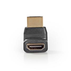 HDMI adapter HDMI connector 270° gehoekt - HDMI input zwart