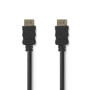High Speed HDMI kabel met Ethernet HDMI-Connector - HDMI-Connector 1.00 m Zwart