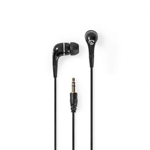 Bedrade Koptelefoon | 1,2 m Ronde Kabel | In-Ear Oordopjes | Zwart