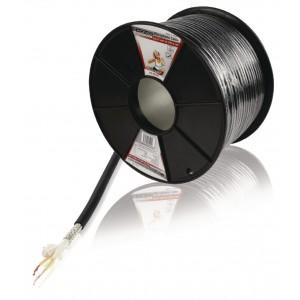 Flexibele microfoonkabel 2x 0.35 mm² zwart prijs per meter