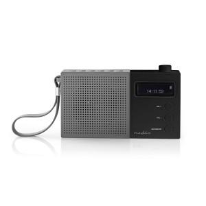 Digitale DAB+ radio | 4,5 W | FM | Klok & alarm | Grijs / zwart