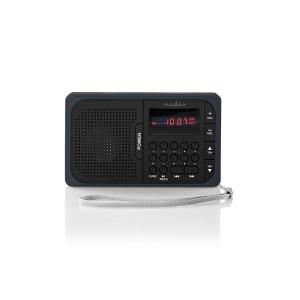 FM-radio | 3,6 W | USB-poort & microSD-kaartsleuf | Zwart / grijs