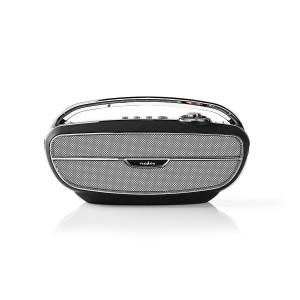 FM-radio | 60 W | Bluetooth® | Zwart / zilver