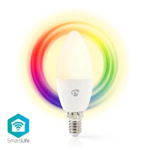 Wi-Fi Slimme LED-Lamp | Full-Colour en Warm-Wit | E14