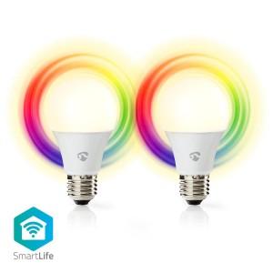 Slimme Wi-Fi-LED-Lampen | Full-Colour en Warm-Wit | E27 | 2-Pack