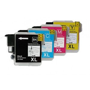 Set cartridges voor Brother LC 1220 1240 1280