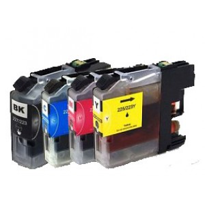 Set cartridges voor Brother LC 223(met chip)