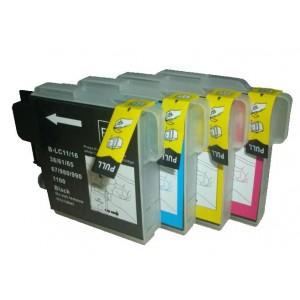 Set cartridges voor Brother LC 980 985 1100