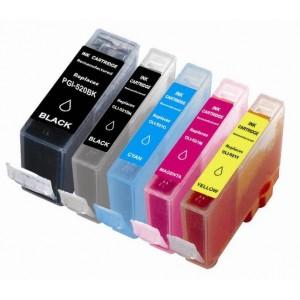 Set cartridges voor Canon PGI 520 521