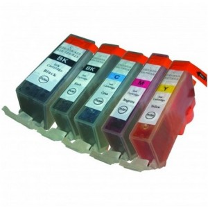 Set cartridges voor Canon PGI 525 526
