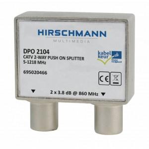 CATV Splitter 4.8 dB / 5-1218 MHz - 2 Uitgangen