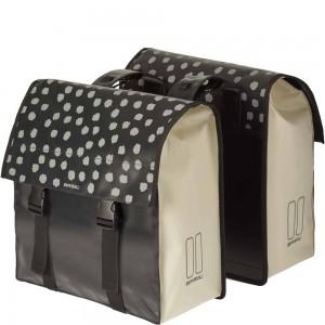 Basil dubb tas Urban load zwart/wit