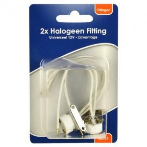 BLS 2x halogee fitting 12V + zijmontage