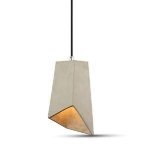 Hanglamp beton look kap met E27 fitting