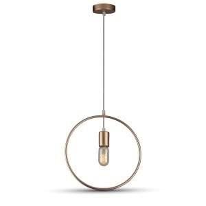 Hanglamp geometrisch rond goud met E27 fitting