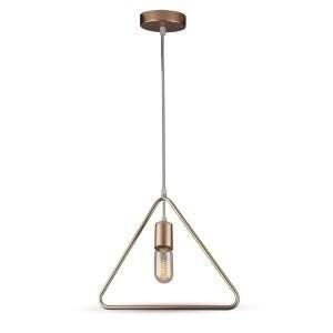 Hanglamp geometrisch triangel goud met E27 fitting