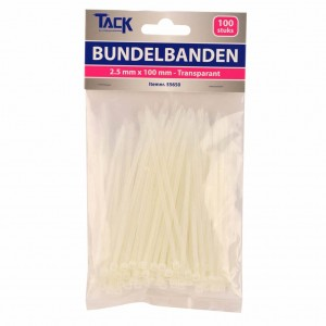 Bundelbandje 2,5 x 100mm 100st  transpar