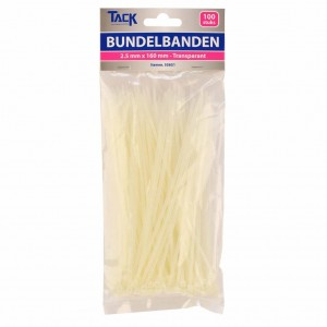 Bundelbandje 2,5 x 160mm 100st  transpar