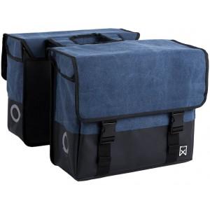 Willex Canvas Dubbele tas + Blauw/Matzwart 48L