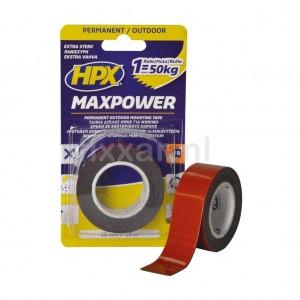 Max Power Outdoor bevestigingstape - zwart 25mm x 1,5m