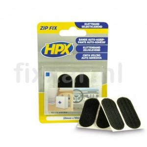 Zip fix klittenband pads - 20mm x 50mm