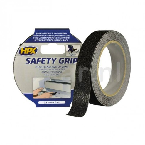 Anti-slip tape - zwart 25mm x 5m