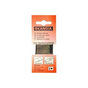 Skandia soldeerdraad massief 1,5 mm 70/30 16 g