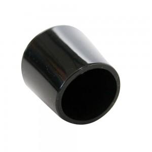 QlinQ pootdop omsteek rond zwart 10 mm 4 stuks