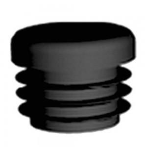 QlinQ inslagdop insteek rond zwart 19 mm 4 stuks