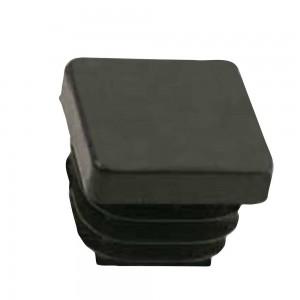 QlinQ pootdop insteek vierkant zwart 15 mm 4 stuks
